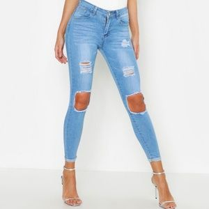 EXPRESS light wash mid rise legging jeans #LL18
